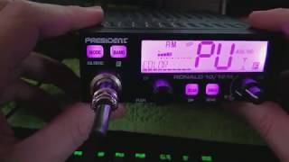 PRESIDENT RONALD CB RADIO OOTB QC AND SETUP FOR CLIFFY