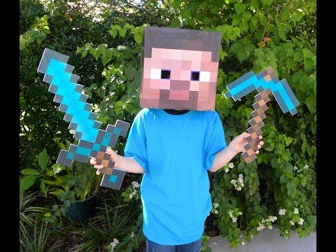 DIY Minecraft Steve Halloween Costume!