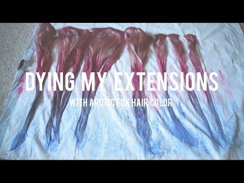 How I dye my Hair Extensions tutorial- Stephanie Kudlic