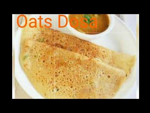 Instant Oats Dosa in 3 min! Healthy Breakfast dosa by Oatsmeal cholestrol free  diabetese free