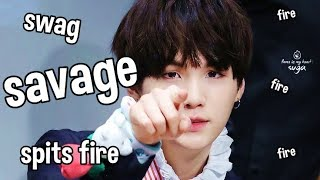 Download SAVAGE SUGA, the guy who spits fire #AGUSTD Video