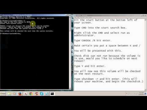 How To Run CheckDisk From Command Prompt.