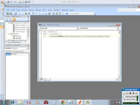 Excel VBA example 4: writing a sub procedure to find cube root