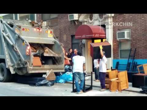 Garbage Truck Crushing Usable Furniture