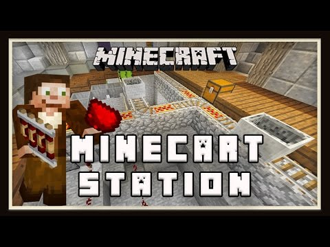 Minecraft:  Minecart Station Tutorial - Automatic Launch & Unload