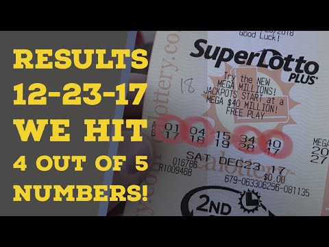 We Hit 4 of 5 Numbers!!! Results SuperLotto Group Play 12.23.17