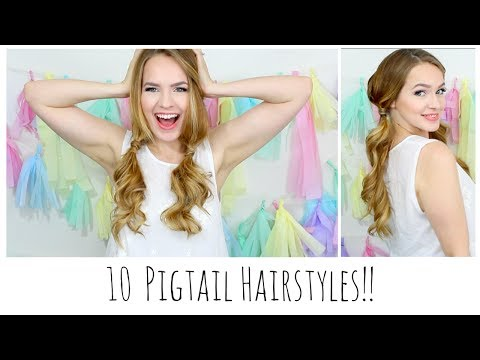 10 Easy Pigtails You'll Love!!