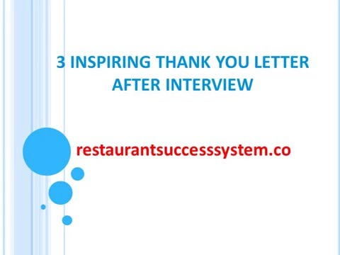 3 Thank You Letter Format After Interview Sample