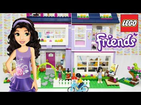 LEGO Friends Emma's House Set Unboxing Building Review - Kids Toys