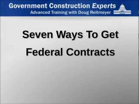 7 Ways to Get Federal Contracts