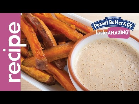 Baked Sweet Potato Fries with Spicy Mayonnaise Peanut Butter Sauce Recipe
