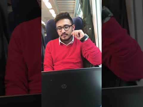 During traveling on train from Torino to Milan Centrale Italy