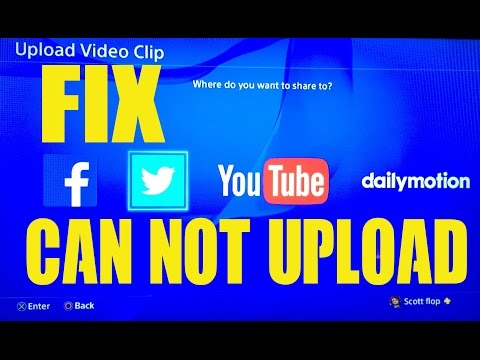 Can't Share Screenshot PS4 FIX Videos & Pics Wont Upload to Twitter Facebook YouTube Tutorial