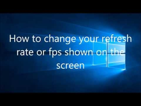 How to Change Refresh Rate - Windows 10 - Fast and Easy!!!