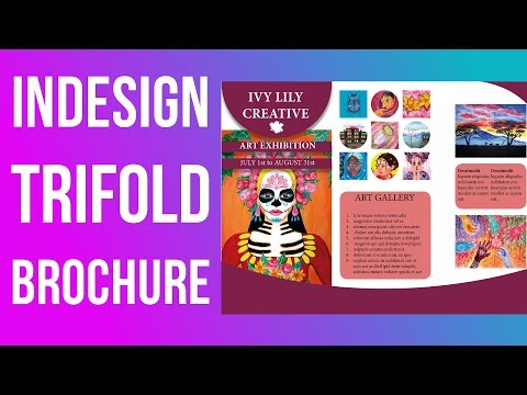 How to Design a Trifold Brochure in InDesign || Adobe InDesign CC 2015 Tutorial