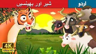 شیر اور بھینسیں   Tiger and Buffaloes in Urdu   Urdu Story   Urdu Fairy Tales