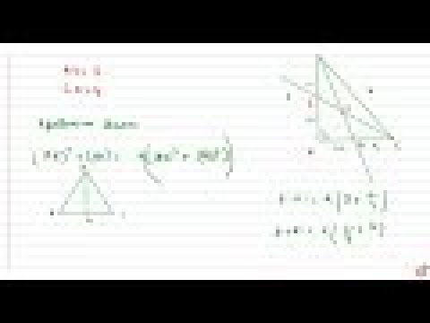 JEE MAINS 2018 The lengths of the medians through acute angles of a right-angled    triangle are...