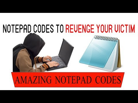 5 Amazing Notepad Codes to Beat your VICTIM