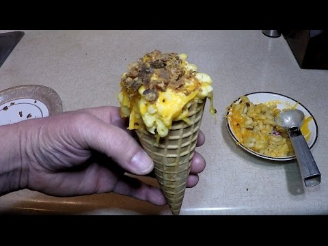 Mac and Cheese in a Cone