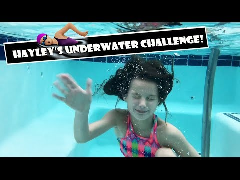 Hayley's Underwater Challenge 🏊 (WK 373.7)   Bratayley