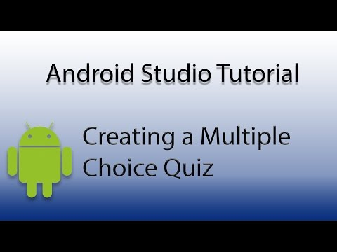 Android Studio: Create a Multiple Choice Quiz