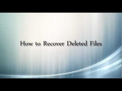How to Recover Deleted Files in Win 8,Win 7,Vista