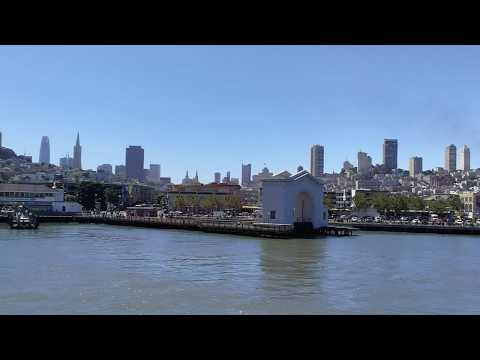 San Francisco to Angel Island ferry, Alcatraz and Golden Gate Bridge view