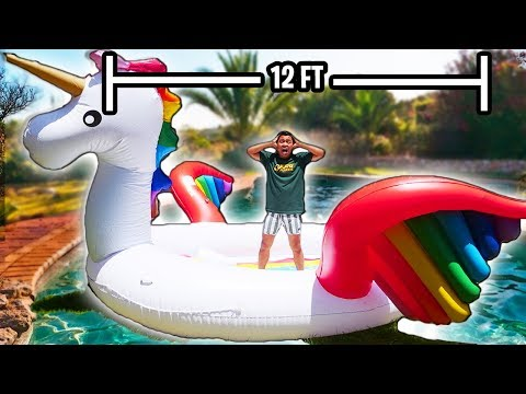 Swimming Inside The World's Largest Inflatable Floatie!