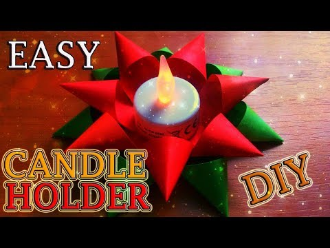 How to Make an Easy Candle Holder out of Paper. DIY Diwali Christmas Craft Ideas