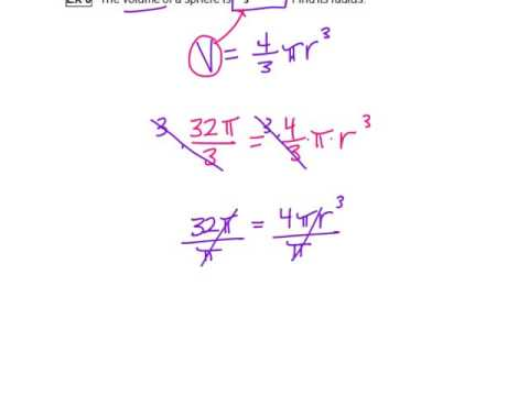 Find Radius given Volume of Sphere