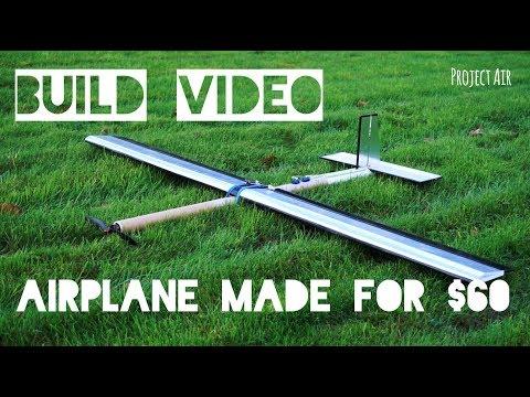DIY RC Plane SCRATCH BUILD for $60 (using CARDBOARD tubes)