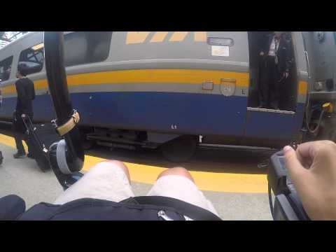 Wheelchair User Getting On & Off Train