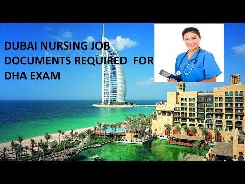 nursing jobs dubai, DHA exam documents requirement