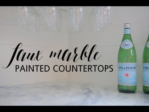 Faux Marble Painted Countertops Tutorial
