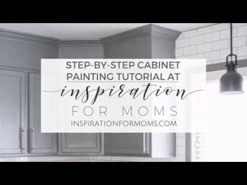 How To Paint Kitchen Cabinets - A Builder Grade Cabinet Makeover