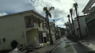 A drive down Front Street in Philipsburg, St Maarten on 11/7/2017 - 2 months after Hurricane Irma.