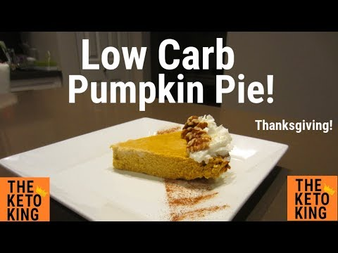 EASY Low Carb Pumpkin Pie! | Perfect for thanksgiving | Keto Pumpkin Pie | Crustless Pumpkin Pie