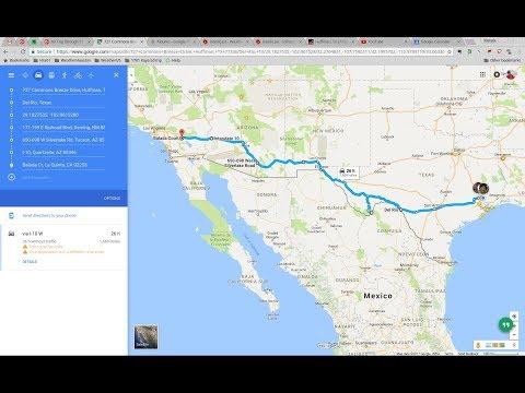 Vacation on RV West through TX NM AZ CA - January 2017