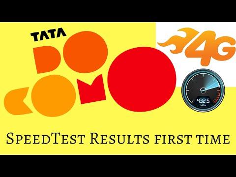Tata docomo 4G LTE SpeedTest