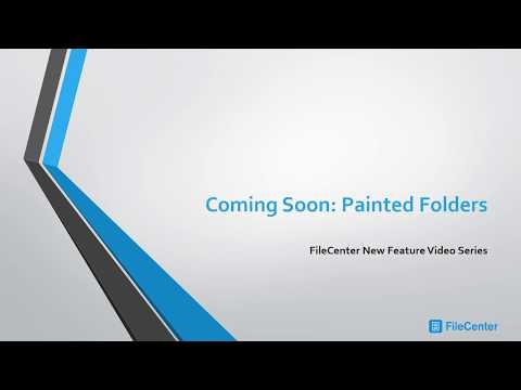 FileCenter 10 New Feature - Painted Folders