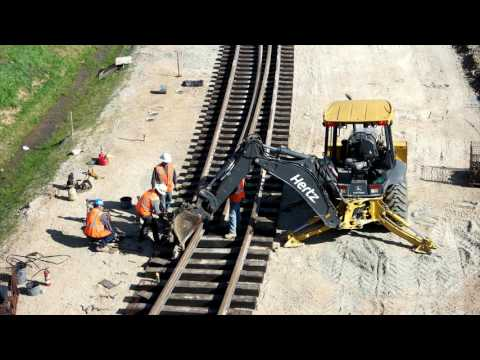 New Jointed Rail Being Installed at Raleigh, NC