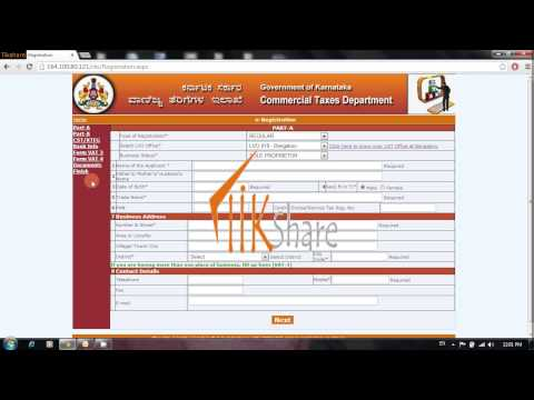 stepwise Online vat registration procedure in Karnataka