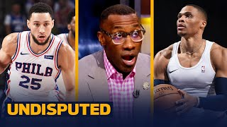 Shannon has a huge problem with Westbrook being ranked behind Simmons | NBA | UNDISPUTED