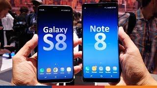 SAMSUNG NOTE 8 vs GALAXY S8+