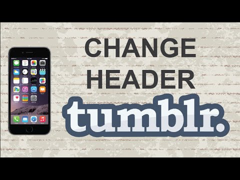 How to change header on Tumblr | Mobile App (Android / Iphone)