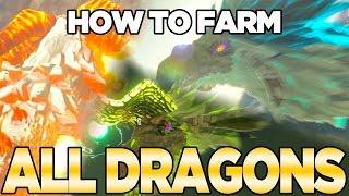 How to Farm all Dragons in Breath of the Wild - Dinraal, Naydra, \u0026 Farosh   Austin John Plays