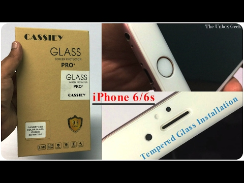 Cassiey Tempered Glass For iPhone 6/6s Unboxing & Review (INDIA)