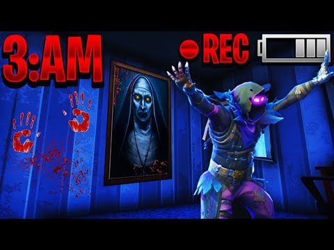 DON'T PLAY FORTNITE AT 3AM - IF YOU GET SCARED YOU LOSE in Fortnite Battle Royale Funny Moments