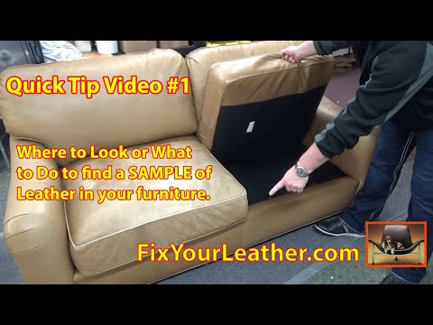 Quick Tip Video #1 How to find a Sample of Leather.