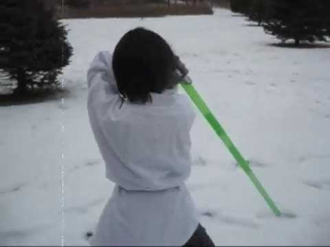Lightsaber tricks by amazing Jedi Kid!